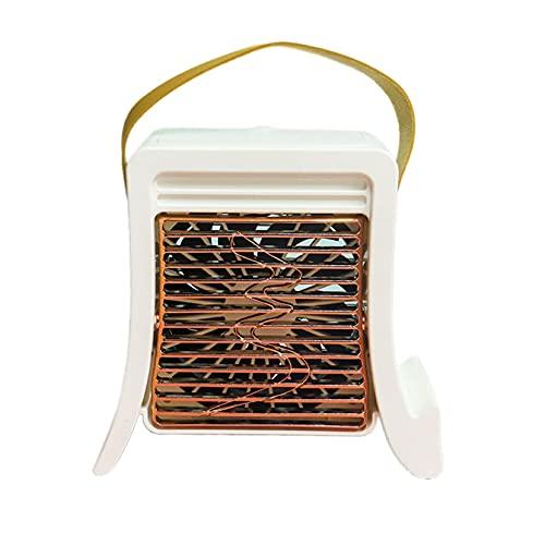 Aire acondicionado portátil, enfriador de aire y humidificador, mini enfriador de aire, con refrigeración de agua, recargable, mini enfriador de aire portátil, con función de pulverización, 3 niveles