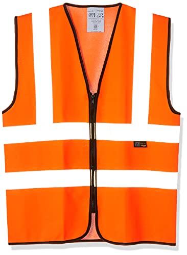 Supertouch 32383 Zipped Hi Vis Vest, Large, Orange