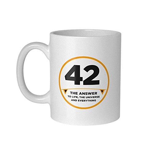 getDigital 42 Becher Tasse für Nerds und Geeks, Keramik, weiß, 10 x 10 x 10 cm