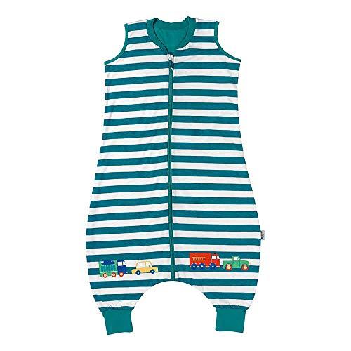 Schlummersack Baby Schlafsack mit Füßen Sommer 0.5 Tog 100 cm dünn Autos | Schlafsack mit Beinen ungefüttert für eine Körpergröße von 100-110cm | Schlafsack Baby Sommer
