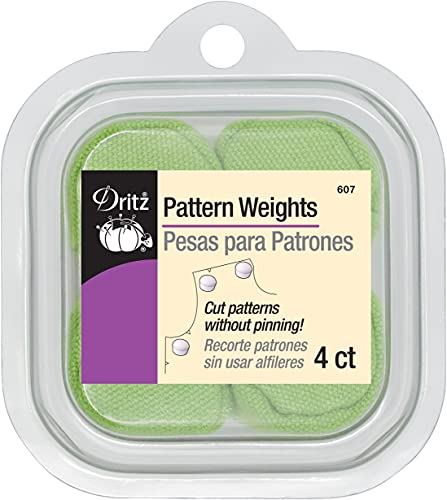 Dritz 607 Fabric Pattern Weights, 4-Count, Green, pink, purple