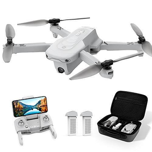 Holy Stone HS175 Drohne mit 2K HD Kamera,Faltbar RC Quadcopter mit GPS Rückkehr,5G FPV Live Übertragung,2 Akkus Lange Flugzeit,Follow Me,Flugbahnflug,Höhenhaltung,Return Home,inkl.Tasche für Anfänger