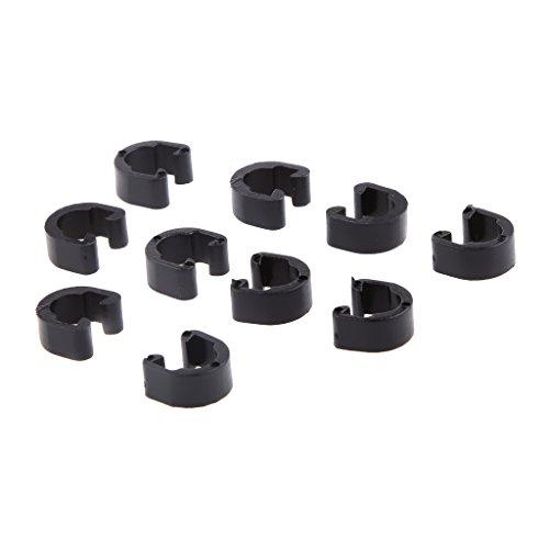Gazechimp 10 Stück C-Clip Bremsleitung Befestigung Klammer - Bremszüge Halterung Clip - Bremsleitungshalter - Schwarz