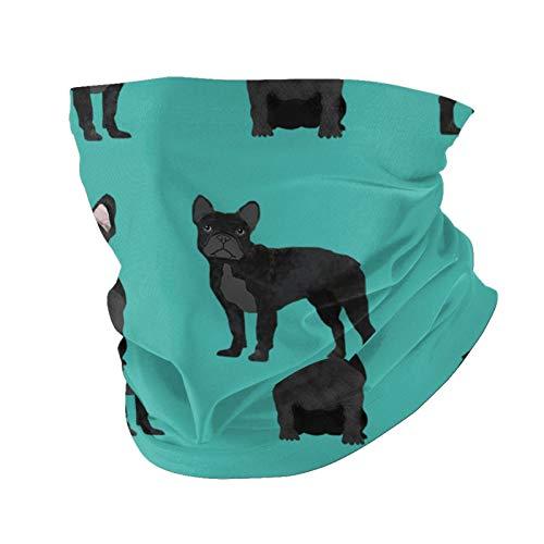 Ccycjasdkfewl Bulldog Verano Protección UV Cuello Polaina Bufanda Pasamontañas Cara Cubierta Bufanda con Bolsillo Interior
