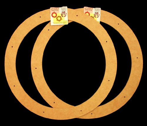 "2 Pack, 18"" Biodegradable Floral Craft Ring, Ez Glueable Wreath Form, for Photo Frame, Other Arts , Props and Crafts Projects"