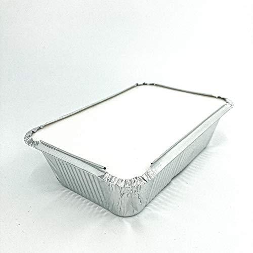Enpack Aluminiumschale mit Alukaschiertem Deckel 940L - Menüschale - 940 ml Füllmenge - Form für Lebensmittel - Grillschalen - Einwegverpackungen - Einmalbehälter für Pasta/Nudeln 100 Stück