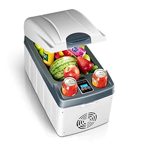 DKEE Mini Nevera 20L Coche Mini Frigorífico Horizontal Doble Núcleo Refrigeración Rápida Calefacción Puede Congelar Refrigeración Doméstica Pantalla Digital Blanco