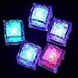 Cubeta de hielo 3 unids Colorido colorido cubitos de hielo de vino Decoración de vidrio LED Bloqueo fluorescente parpadeando Lámpara de hielo de la inducción para la boda de la barra Bar, artículos pa