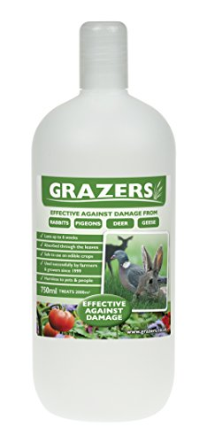 Grazers ltd GRAZERS G1 Concentrate 750ml Effective Against Damage from Rabbits, Pigeon, Deer Etc (Treats Up to 2000m2), Nylon/A