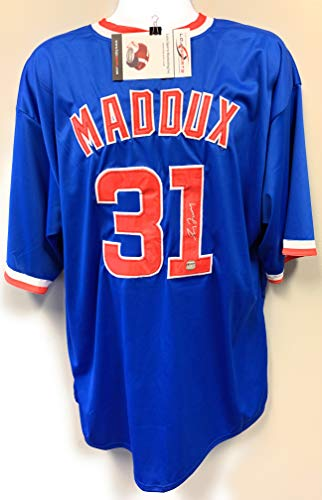 Greg Maddux Chicago Cubs Signed Autograph MLB Custom Blue Jersey LoJo Sports Certified