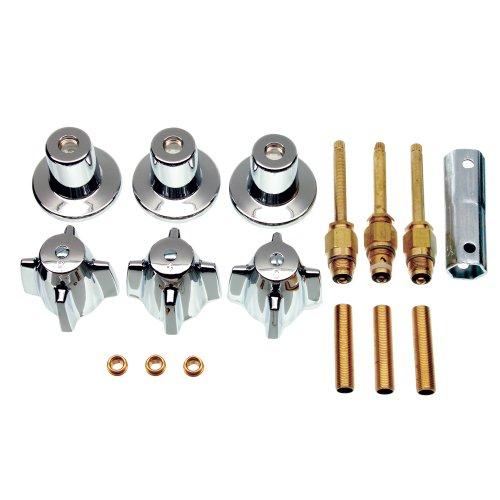 DANCO Bathtub and Shower 3-Handle Remodel/Rebuild Trim Kit for Central Brass Faucets | Knob Handle | 10L-11H, 10L-11C, 10L-13D | Chrome (39616)