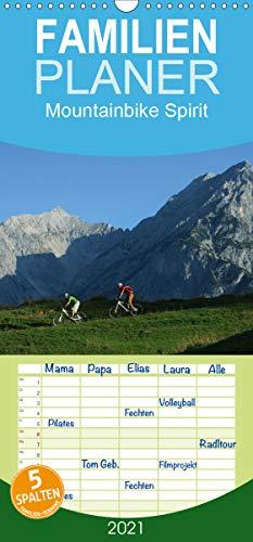 Mountainbike Spirit - Familienplaner hoch (Wandkalender 2021, 21 cm x 45 cm, hoch)