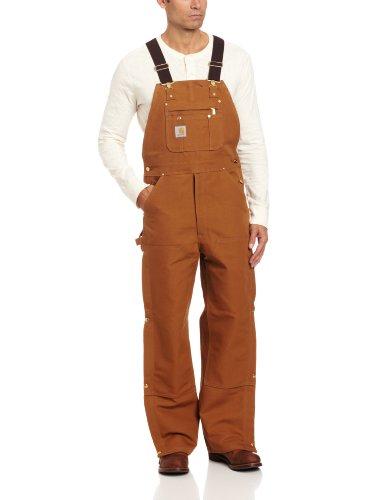 Carhartt Men's Zip To Thigh Bib Overall Unlined,Carhartt Brown,42 x 30