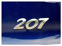 GF 車のステッカー3DシルバーリアトランクエンブレムバッジデカールフィットPeugeot 206 207 307 308 308 301 2008 3008 408 508 406自動車のスタイリング GJF (Color Name : 207)