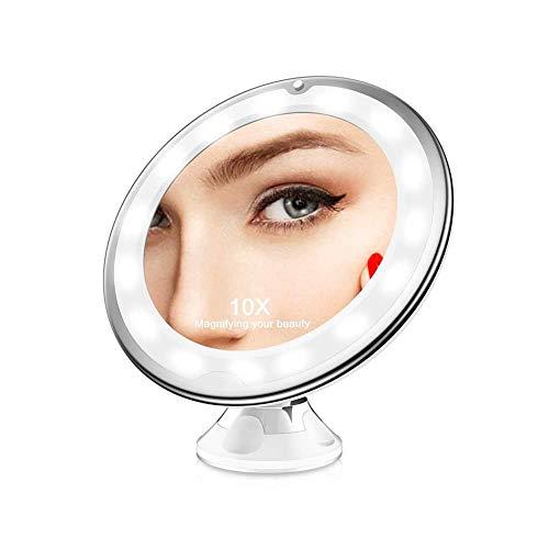Espejo De Aumento Con Ventosa X10 Marca Desconocido