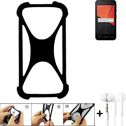 K-S-Trade Paraurti per Cellulare Vodafone Smart C9 Paraspruzzo in Silicone Custodia Cover Bumper per...
