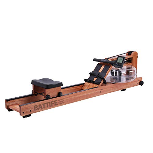 BATTIFE Water Rowing Machine with Bluetooth Monitor, Solid...