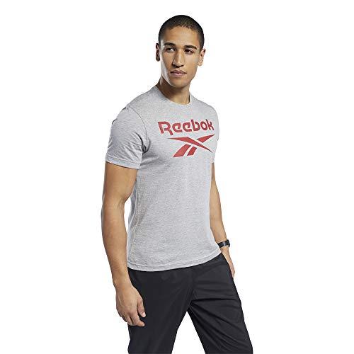 Reebok Ri Big Logo tee Camiseta, Hombre, brgrin, L