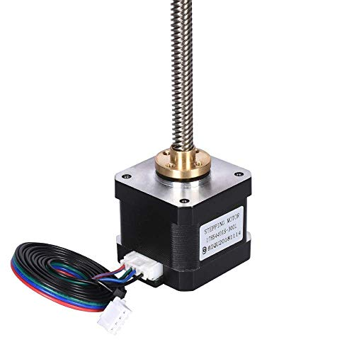 Nema17 Stepper Motor 17HS4401S 40MM with Lead Screw T8 300 400 500MM Length Copper Nut for 3D Printer Parts Trapezoidal Kits XYZ 3D Printing Accessories (Size : Motor with 500MM)