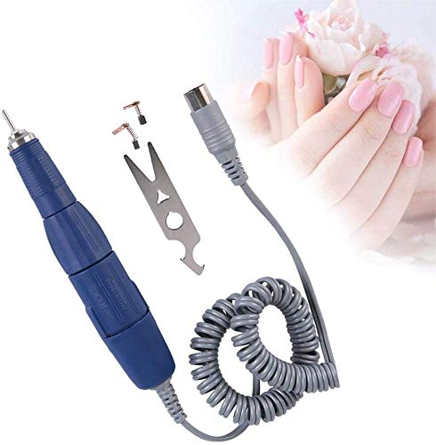 Manija de Taladro para Uñas Pulidor de Uñas Kit Máquina de Pedicura Eléctrica para Uñas Pieza de Mano con Taladro de Arte Eléctrico Manija de Pluma (35000 RPM)(Blue)
