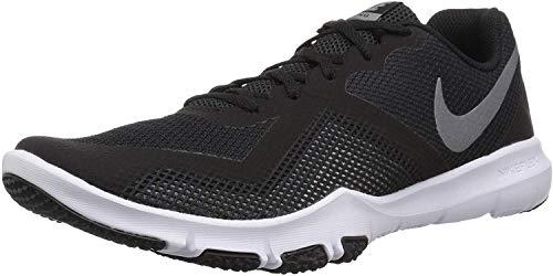 Nike Men's Flex Control II Cross Trainer, Black/Metallic Cool Grey-Cool Grey-White, 9.0 Regular US