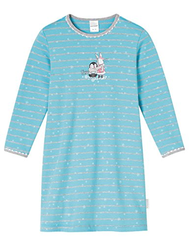 Schiesser Mädchen Nachthemd 1/1, Blau (Türkis 807), 98