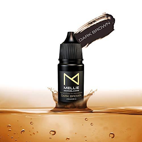 Mellie Microblading Pigment – Dark Brown 10 ml/.35fl.oz   Medical Grade   No Mixing   Long Lasting Tattoo Ink For Professionals PMU Supplies