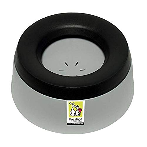 Road Refresher No Slobber, No Spill Dog Water Bowl | Eliminates Water Slobber from Even The Messiest Jowls, No More Wet Floors | Ideal for Home, Travel, Boat, RV | Size Small, Pewter Grey (10RRBSG)