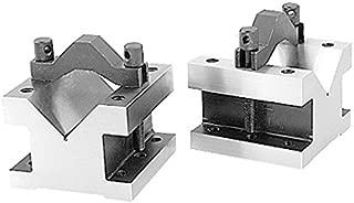 HHIP 3402-0003, 4-1/8 L X 4-1/8 W X 3-1/16 H Precision V-Block & CLAMP Set