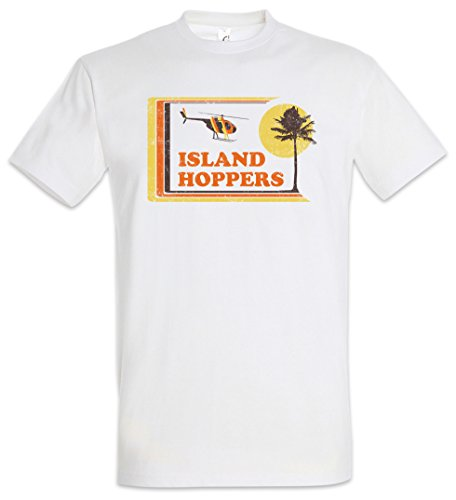 Island Hoppers Magnum Ring Spun T-shirt for Men, White, S to 5XL