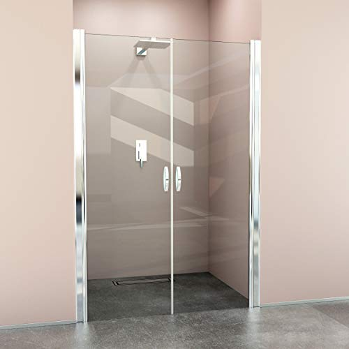 glasshop24 Hochwertige Design Duschabtrennung/Nischendusche mit Lotuseffekt | 105 x 195 cm