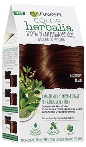 Garnier Color Herbalia Haselnussbraun, 100 % Pflanzenhaarfarbe, pflanzliches Colorieren, vegan, 3er Pack