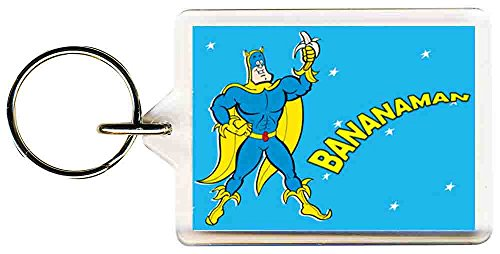 Bananaman 80s Cartoon Keyring