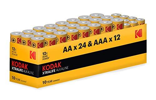 Kodak AAA + AA Batteries, 1.5 V, Performance Single Use Alkaline...