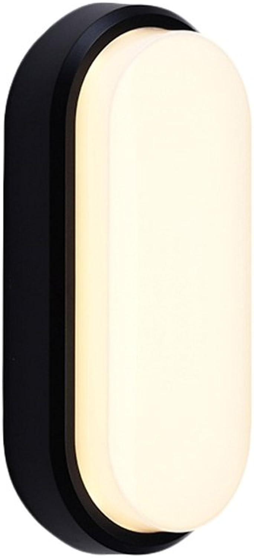 Unbekannt Wasserdichtes Nachtlicht im Freien im Freien mit menschlicher Induktion führte Wand-Lampen-Korridor-Eingangs-Flur-Badezimmer-Decke (Farbe   Schwarz, gre   A)