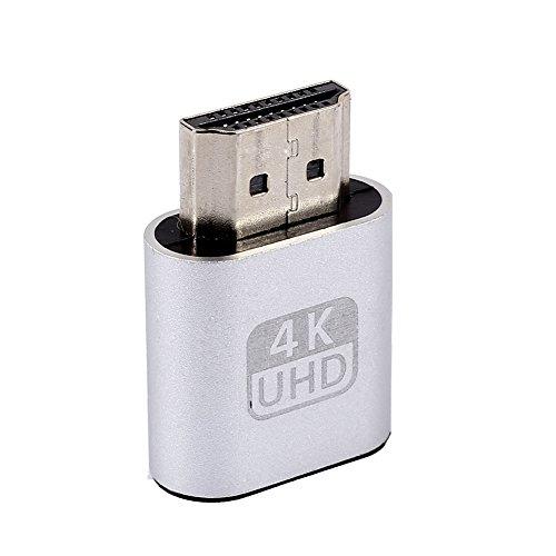 Hanbaili HDMI Dummy Plug Headless Ghost Display Emulator (Fit Headless-1920x1080 Nieuwe generatie @ 60Hz)