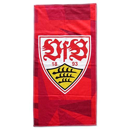 VfB Stuttgart Strandtuch/Badetuch Wappen rot ca. 100 x 180 cm