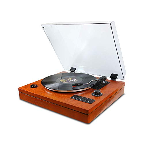 Find Cheap Turntable for Vinyl Records 3 Speed Portable Phonograph Record Player with Wireless Speak...