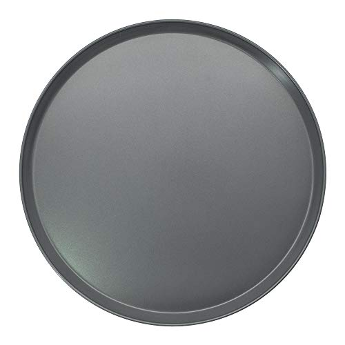 Chef Select Pizza Pan, 16-Inch Round, Extra Large Size, 1  Sides, Steel, Non-Stick - Great for Thick Crust Pizza or Serving Tray