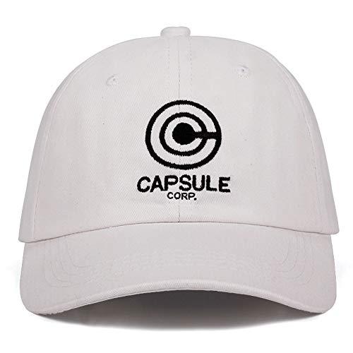 Yhtdhaq Capsule Corp. Papa Hut Dragon Ball Anime Song 100% Baumwolle Stickerei Hysteresenhüte Unisex Baseball Caps Männer Frauen Urlaub Hüte,Weiß