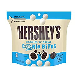 HERSHEY'S Cookies 'N' Creme Cookie Bites Stand Up Pouch, 7.5 Oz