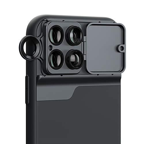 Dmtrab para Teléfono móvil Lente de Gran Angular Fisheye Macro Teleobjetivo CPL Funda para teléfono para iPhone 11 Pro MAX