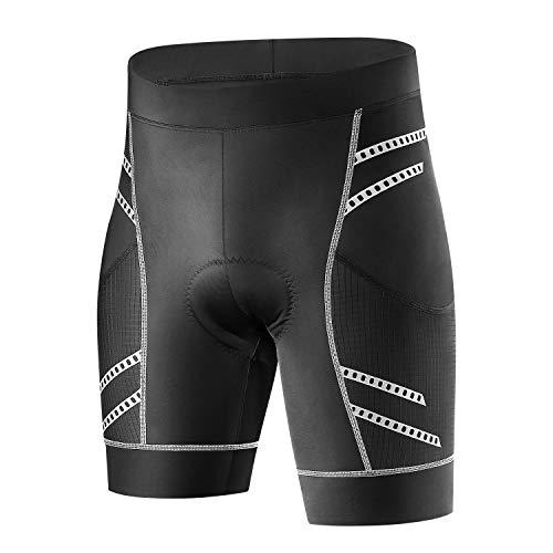 INBIKE Pantaloncini da Ciclismo 3D Gel Imbottito Legging Corto con Fondello per Uomo,XL