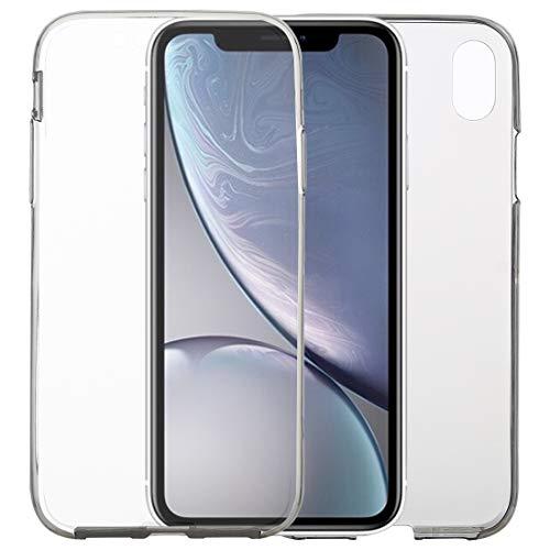 KCSds XR Caso del iPhone de Apple Ultra-Delgada de Doble Cara de Cobertura Total Transparente del Caso de TPU (Color : Grey)