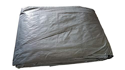 8 x 12 m Extra Sterk Grijs 110g/m2 Dekzeil Grondplaat met metalen ringen Covers Zonneschaduwende Hangmat Tent Draagbare Waterdichte Cover