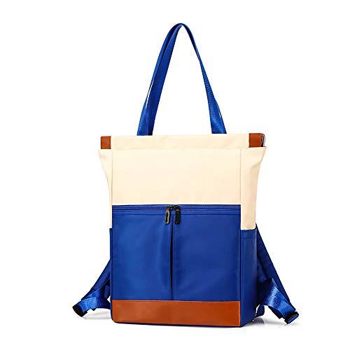 L&Q Zaino Per Donna Impermeabile Di Grande Capacità, Zaino Impermeabile Multifunzionale In Nylon Leggero (blu)