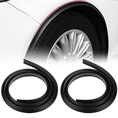 1 Paar Auto Radlauf Augenbrauen 150cm Auto Radlauf Protector Kotflügel Zierleisten, Universal Radlauf PVC Schutzleisten Anti-Kratz-Pad (Schwarz)