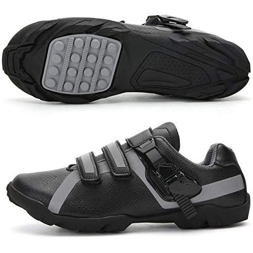 JINFAN Road Cycling Shoes,Men's Bicycle Shoes,Lightweight Wear Resistant Bike Footwear Road Bike Shoes Mountain Bike Shoe,Black-41EU