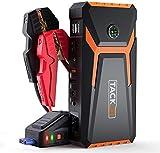 TACKLIFE T8 Avviatore Emergenza Auto-800A/18000mAh Avviatore Batteria Auto per Motore Benzina Fino a 6.5L e Diesel 5.5L, con Schermo LCD, Torcia a LED, USB QC 3.0