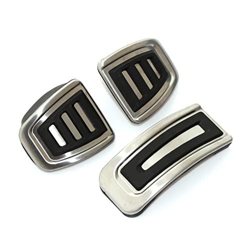 HYANG Estilo de Coche, Acero Inoxidable. Monte Pedal Pads aptas for VW Polo Jetta Mk4 Bora Golf Mk4 Apto for el Asiento Ibiza 6k 6l 6j 3pcs / Set (Color Name : Style 2MT)